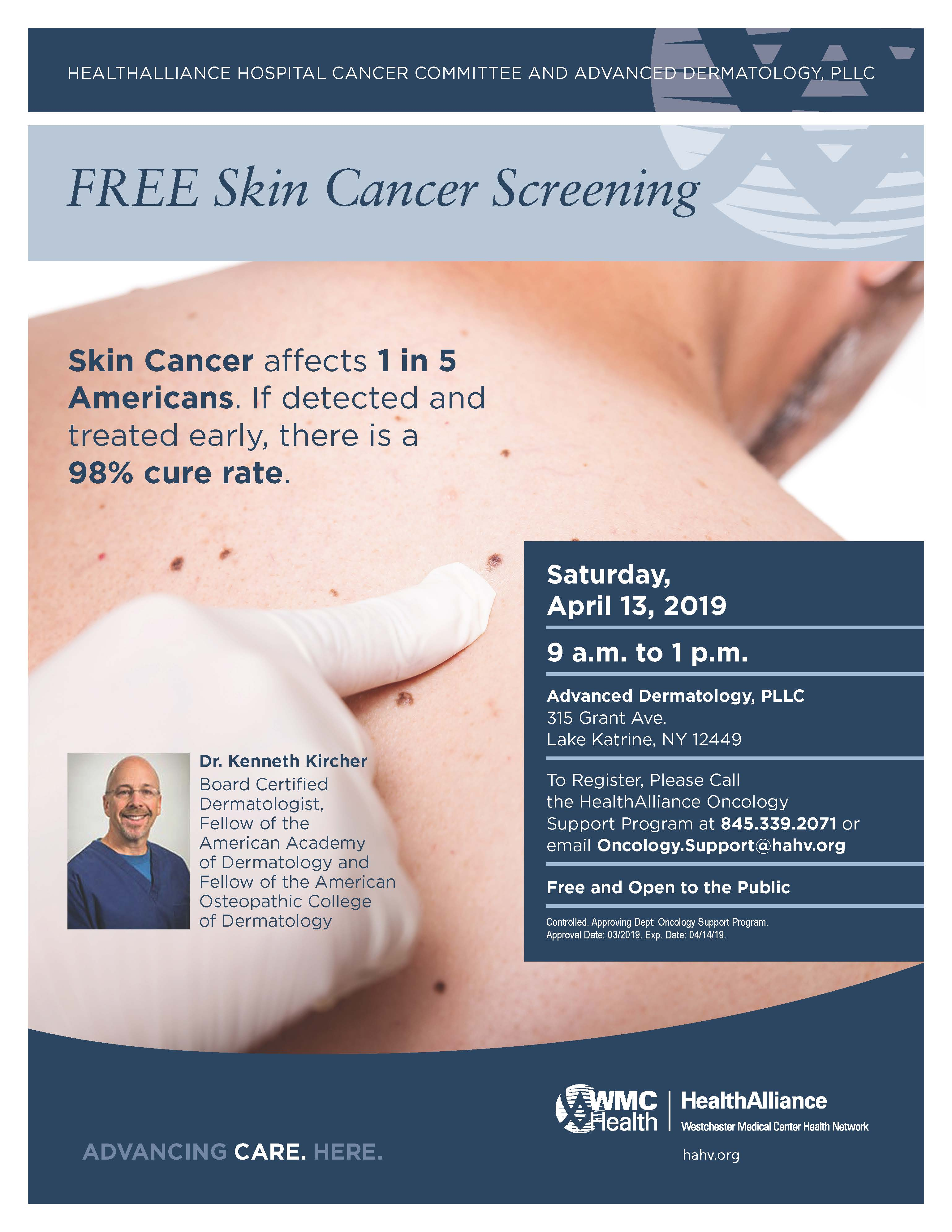 FREE Skin Cancer Screening | Classes and Events